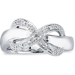 Sterling Silver Diamond Accent Infinity Design Ring