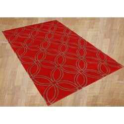 Handmade Metro Circles Red Area Rug (8' x 10')