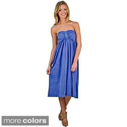 AtoZ Women's Strapless Antique Finish Dress