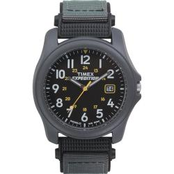 Timex Men's T42571 Expedition Camper Black Fast Wrap Velcro Strap Watch
