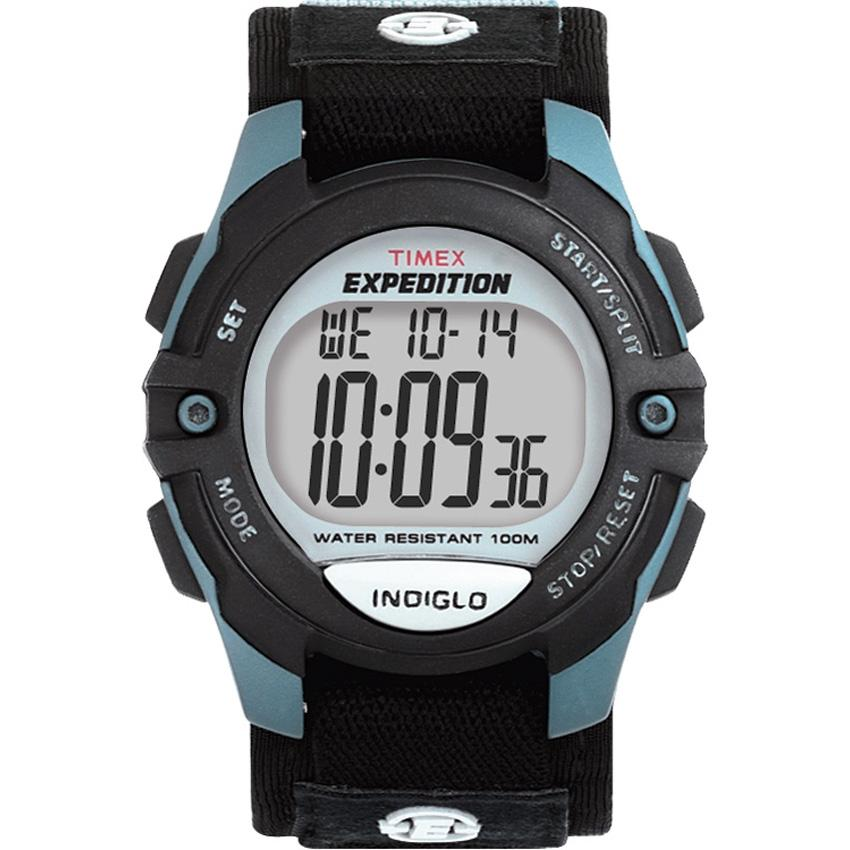 Timex T410919J Men's Expedition Digital Fast Wrap Velcro Strap Watch