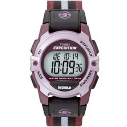 Timex Unisex T49659 Expedition Classic Digital CAT Plum Fast Wrap Watch