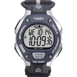 Timex Men's T5H421 Ironman Traditional 30-Lap Fast Wrap Velcro Strap Watch