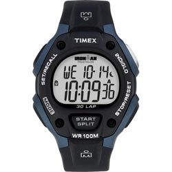 Timex Men's T5H591 Ironman Traditional 30-Lap Black/Blue Watch