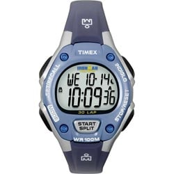Timex Women's T5K018 Ironman Traditional 30-Lap Blue/Silvertone Watch