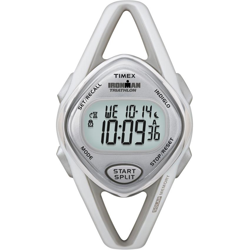 Timex Women's T5K026 Ironman Sleek 50-Lap Light Grey Watch