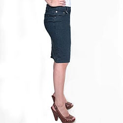 Tabeez Women's Medium Blue Denim Pencil Skirt