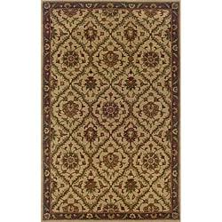 Hand-tufted Beige/ Brown Wool Area Rug (3'6 x 5'6)