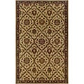 Hand-tufted Beige/ Brown Wool Area Rug (3'6 x 5'6)