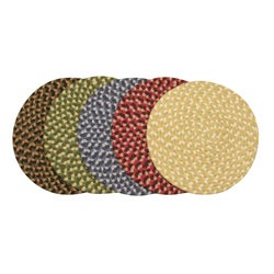 Pinehurst Braided Wool Non-Slip Chair Pads (Set of 4)