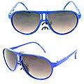 Kid's K912 Blue Plastic Aviator Sunglasses