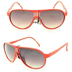 Kid's K912 Red Plastic Aviator Sunglasses
