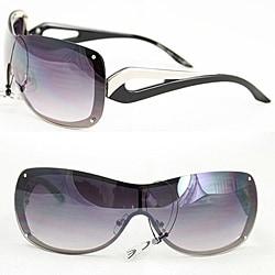Women's M9203 Black Metal Rimless Sunglasses