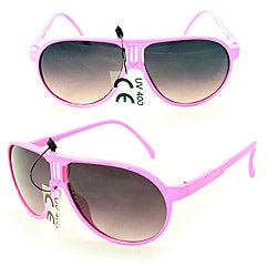 Kid's K912 Pink Plastic Aviator Sunglasses