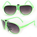 Kid's K912 Green Plastic Aviator Sunglasses
