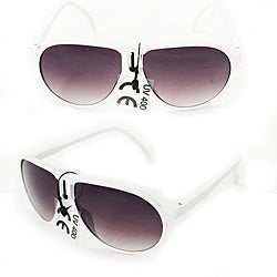 Kid's K912 White Plastic Aviator Sunglasses