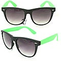 Men's 350C Black/ Green Plastic Fashion Sunglasses