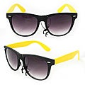 Men's 350C Black/ Yellow Plastic Fashion Sunglasses
