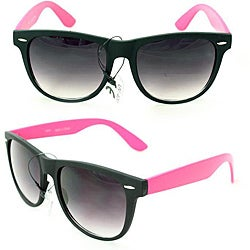 Men's 350C Black/ Pink Plastic Fashion Sunglasses