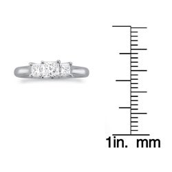 14k White Gold 1ct TDW 3-stone Diamond Ring (G-H, SI1)