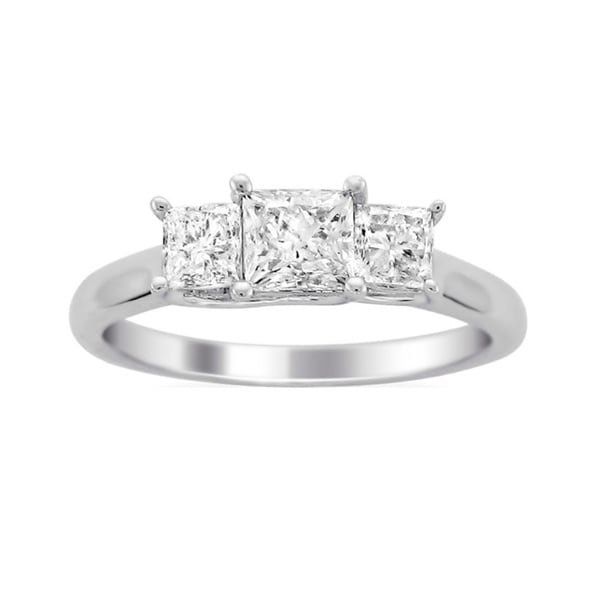 Montebello 14k White Gold 1 1/2ct TDW Diamond 3-stone Engagement Ring (H-I, I2)