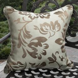Clara Outdoor Mint Green/ Brown Throw Pillows Made with Sunbrella (Set of 2)