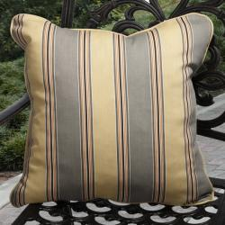 Isabella Outdoor Hamilton Shiitake Gold Pillows (Set of 2)