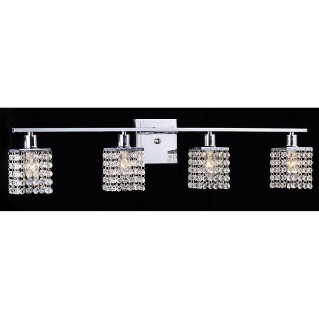 light chrome crystal wall sconce lighting sconces fixture bathroom