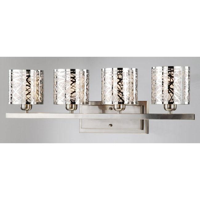 Satin Nickel 4 Light Wall Sconce 13529598 Overstock