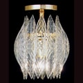 Kerchief 1-light Polished Brass Finish Semi-flush Fixture