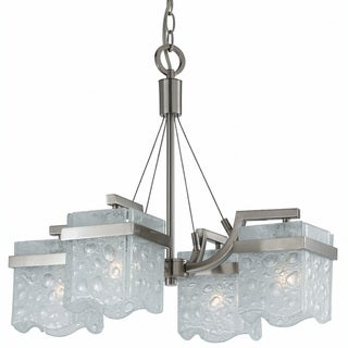 Arctic Ice 4-light Nickel Chandelier