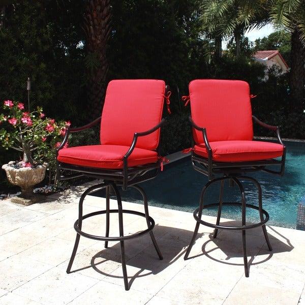 Comfort Care Cast Aluminum With Armrest Outdoor Swivel