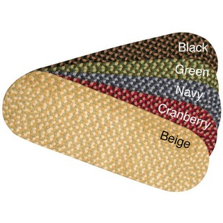 Set of 4 Pinehurst Wool Braided Non Slip Stair Treads (9