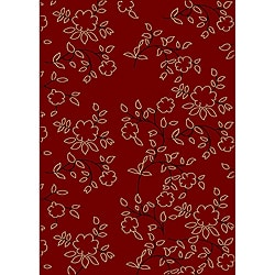 Impressions Red Area Rug (7'9 x 11')