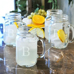 Personalized Mason Drinking Jars (Set of 4)