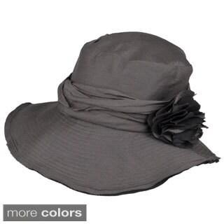 Adi Designs Women's 4-inch Slanted Wire Brim Hat