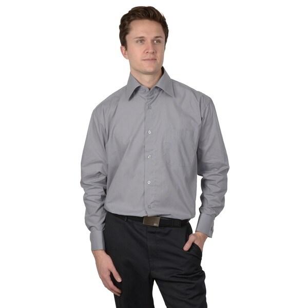 Boston Traveler Men's Wrinkle-free French Cuff Dress Shirt