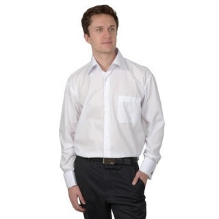 Boston Traveler Men's White Wrinkle-Free French Cuff Dress Shirt