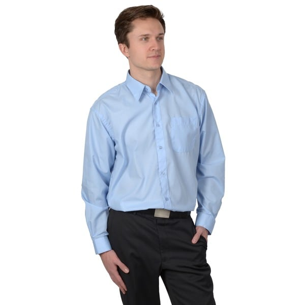 Boston Traveler Men's Basic Long-Sleeve Dress Shirt