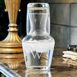 Custom Engraved 2 Piece Bedside Water Carafe Set
