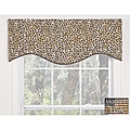 Brown Leopard Cotton M-shaped Valance
