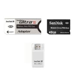 SanDisk 8GB Memory Stick Pro Duo with Reader and Adapter