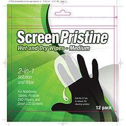 ScreenPristine Screen Wipes (Pack of 12)