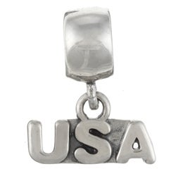 Sterling Essentials Sterling Silver USA Dangle Charm