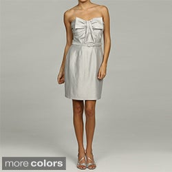 Issue New York Women's Bow-accent Strapless Belted Dress