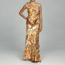 Issue New York Women's Silk Paisley Evening Gown