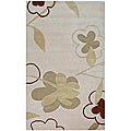 Hand-tufted Bloomer Beige Wool Rug (5' x 8')