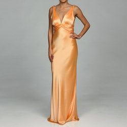 Issue New York Women's Sherbert V-neck Evening Gown