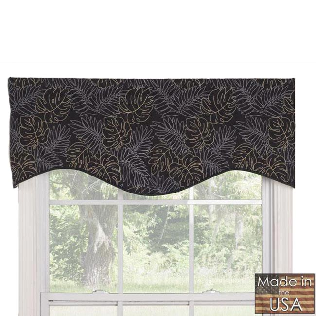 Midnight Breeze Shaped Valance
