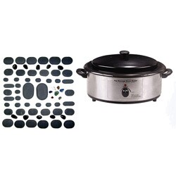 Massage Hot Stone 60-piece Kit with Warmer